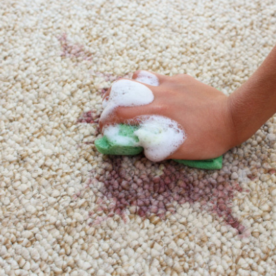 hands-rug cleaning