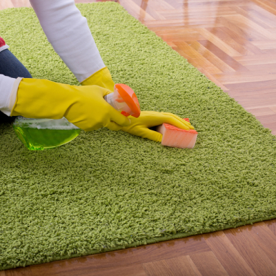 green rug-cleaning cleaning