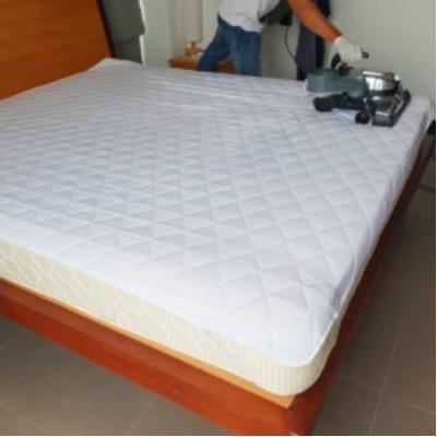 natural sleeping on clean mattress