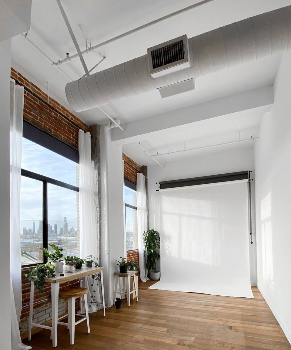 This room has a air duct cleaning system that just got cleaned and has now improved the air quality and air flow in the room.