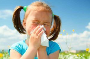 Children develop allergies at a younger age than adults. When children are younger, they usually inhale more dust and allergens